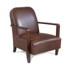 Canelli Leather Armchair Chair