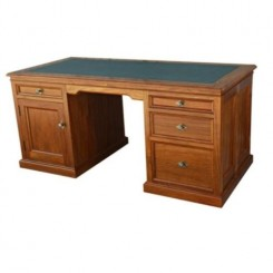 Rosewood 4 Drawer 1 door Desk