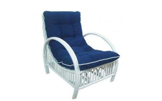 Indiana Cane Chair – White