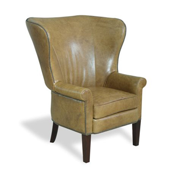 Ralph Leather Wing Chair