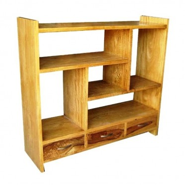 Fruitwood Low Bookcase Divider