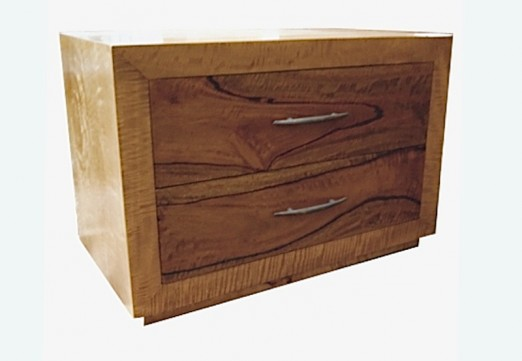 Fruitwood 2 drawer bedside