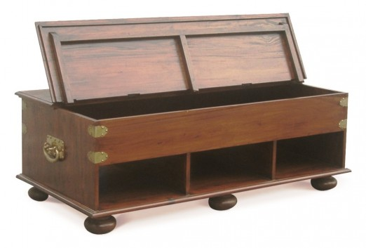 Oriental Leg Coffee Table with Storage