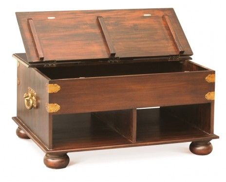Oriental Leg Coffee Table with Storage – Small