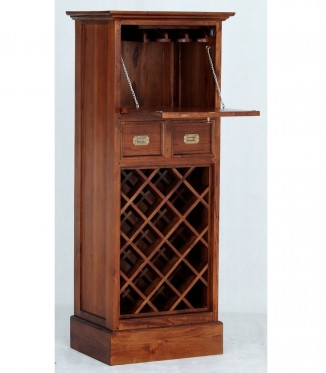 Cityscape 1 Door 2 DWR Wine Rack with Glass Hanging