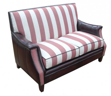 Bulla Love Seat – Fabric and Leather