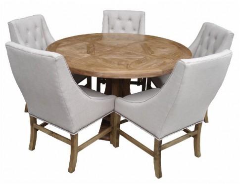 Parquetry Elm Round Table