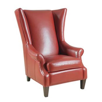 Portia Leather Wing Chair