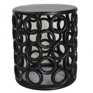 COG SOLID WOOD SIDE TABLE